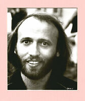Maurice Gibb signed photo in display UACC RD