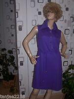 DELDEN 70er Kleid Original Vintage 40  neu unbenutzt riesiger Kragen B47/29