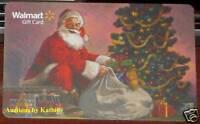 WalMart Christmas Tree Santa Claus Holiday Winter 2009 Gift Card VL-8854