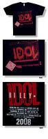 COOLES & ORIGINAL BILLY IDOL AMP 08 TOUR T-SHIRT US IMPORT BEIDSEITIG BEDRUCKT!
