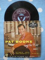 """PAT BOONE ~ 4 TRACK 7"""" EP ~50'S  ROCK 'N' ROLL~DOO WOP~UK SELLER ~ FAST POSTAGE"""