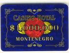 Casino Royal Plaque $1,000,000 Casino Quality Poker James Bond Movie Plaque *