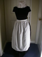ADULTS VICTORIAN COSTUME SKIRT  APRON  MOP HAT 14/16  POST FREE one size