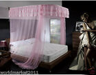 A1-Pink New Square Width 1.2M U-rail Aluminum Alloy Telescopic Mosquito Nets