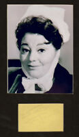 HATTIE JACQUES signed page + Carry On  display UACCRD