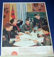 1958 Coca-Cola Coke Ad~BOY SCOUTS Troop 2~make Tautline Hitch knot