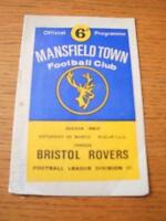 04/03/1967 Mansfield Town v Bristol Rovers  (Creased & Folded). No obvious fault