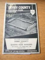 17/02/1968 Derby County v Queens Park Rangers  (Creased