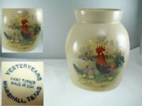 Yesteryears Rooster Marshall Texas 7.75 Inch Canister