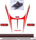 1989 POLARIS INDY 650 HOOD DECALS, SHROUD