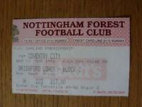 13/03/1996 Ticket: Nottingham Forest v Coventry City. No obvious faults, unless