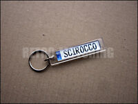 VW Scirocco Keyring - German Number Plate Style Auto Keytag / Keyfob