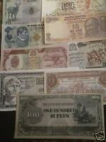 World paper money lot of 25 different better value notes high catalog value