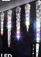 8 LED Light Show Multi Color Shooting Star Christmas Icicle Effect Falling Light