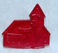 HRM Vintage Red Plastic Cookie Cutter - Church Christmas Easter Wedding Bible