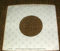 "MTM RECORDS COMPANY logo PAPER SLEEVE pawprints Jacket Cover for 7""Vinyl Records"