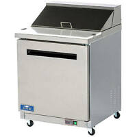 ARCTIC AIR SINGLE DOOR SANDWICH / SALAD PREP TABLE STAINLESS STEEL AST28R