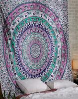 Queen India Elephant Mandala Duvet Cover Bohemian Quilt Cover Hippie Tapestry939
