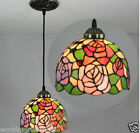 8 Inches European Style Rural Rose Glass Droplight H 115 CM 1 Light Chandelier