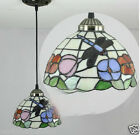 8 Inches European Style Dragonfly Glass Droplight H 115 CM 1 Light Chandelier