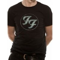 Foo Fighters Logo In Gold Circle T-Shirt Small - Black - Brand New!
