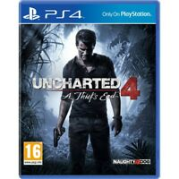 Uncharted 4 A Thief's End PS4 Game - Brand New!