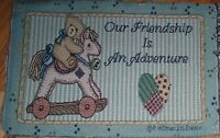 """1 """"Our Friendship.... Tapestry"""" Pillow Top Fabric Panel"""