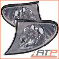 2X INDICATOR TURN SIGNAL CLEAR FRONT LEFT+RIGHT BMW 3-SERIES E46