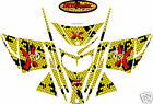 YELLOW HONEYCOMB SLED WRAP for SKI-DOO rev mxz renegade summit 2003-07 decal