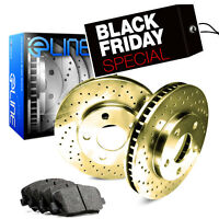 [REAR] Gold Edition Cross-Drilled Brake Rotors & Semi-Met Brake Pads RGX.6205402