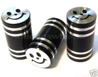 Schrader Alloy Valve Caps Dust Covers Cycle Bike Bicycle MTB BMX Car Tyre Black