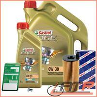 BOSCH OIL FILTER+6L CASTROL EDGE FST 5W-30 C3 BMW 3 SERIES E92 E93 320d 10-13