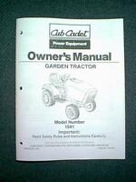 CUB CADET HYDROSTATIC GARDEN TRACTOR MODEL 1541 OWNER'S  MANUAL