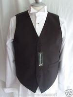 "Silk-Mens Waiters/Wedding BLACK Waistcoat 6XL =52""=130cm Chest-P&P 2UK>1st Class"
