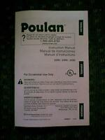 POULAN CHAIN SAW MODEL 2250 2450 2550 OWNER'S MANUAL