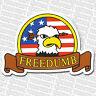 FREEDUMB - Chauve Eagle / USA LOGO - Skateboard autocollant