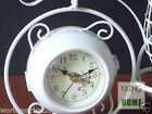 European Rural Wrought Iron Parlor Bedroom Mute Double-Sided Bicycle Table Clock