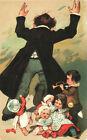 CARTOLINA D'EPOCA BAMBINI - BAMBINI CON TROMBETTE E SONAGLI - 1910 Riprod.