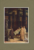 """original 1902 colour print titled """" a lover of art """" by sir lawrence alma tadema"""
