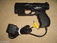 SONY PLAYSTATION 1 2 PS1 PS2 LIGHT GUN BLASTER PISTOL HANDGUN in Black Joytech