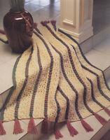 Crochet Pattern ~ BEAUTIFUL ROSEBUDS IN ROWS AFGHAN ~ Instructions