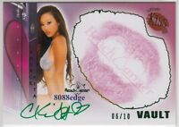 2011 BENCHWARMER VAULT KISS AUTO: CANDACE KITA #6/10 GREEN AUTOGRAPH UGLY BETTY
