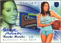 2010 BENCHWARMER ULTIMATE PROP BLUE AUTO: BROOKE MORALES #1/5 SWATCH AUTOGRAPH