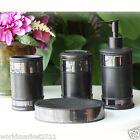 European EC High Quality Resin Black Home Bathroom Wash Supplies Four Set