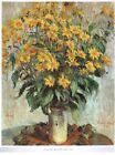 STAMPA - CLAUDE MONET - Vaso di crisantemi - 30x25cm. - 1960 ca.