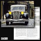 #CVP.045 CITROEN TRACTION AVANT1934 Fiche Auto
