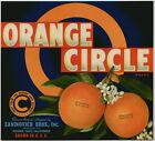 ORANGE CIRCLE Vintage Zaninovich Crate Label, ***AN ORIGINAL CITRUS LABEL***