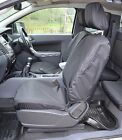 FORD RANGER T6 2012+ Negro Impermeable y a medida par fundas asiento frontal