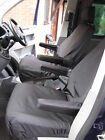 VW TRANSPORTER T5 T6 2010+ Negro a medida & Impermeable Par individual