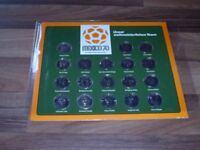 SHELL FUSSBALL WM 1970 MEXICO -- 18 Medaillen / KOMPLETT